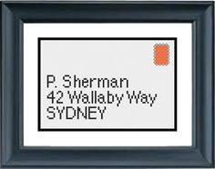 This counted cross stitch pattern was inspired by Disney Pixar movie, Finding Nemo.    Be sure to have a look at my matching designs in my store: