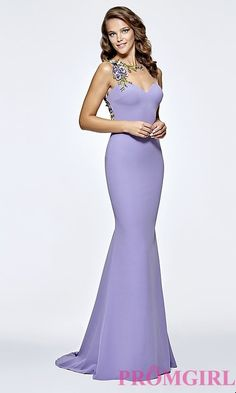 Long Tarik Ediz Prom Dress with Illusion Open Back