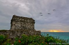 Here on the east coast of Mexico's Yucatan Peninsula, an hour from Playa del Carmen on the Riviera Maya, sits the only Mayan archaeological site overlooking the Caribbean's turquoise waters.    The city of Tulum was constructed by the Maya around 1200 AD and thrived until shortly after the Spanish conquest a couple of centuries later.