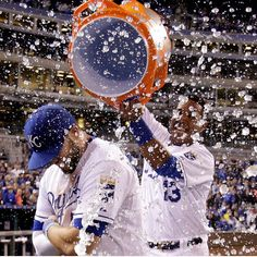 Mike Moustakas and Salvador Perez - The Kansas City Royals https://instagram.com/kcroyals/
