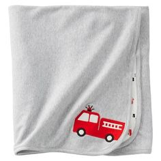 Just One You™Made by Carter's® Newborn Boys' Fire Truck Swaddle Blanket - Red