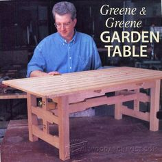 Garden Table Plans - Outdoor Furniture Plans and Projects | WoodArchivist.com
