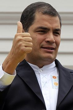 """Rafael Correa Presidente del Ecuador, a hero for the people, a champion of the poor. He once said in a news conference. """"We are here for the poor. We will never fail you. We will never fail you."""" Born in Guayaquil, Ecuador. Clint Eastwood, Latin America, Champion, Barcelona, People, Beautiful, Itachi, Conference, Portugal"""