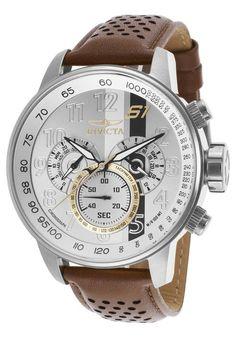 Invicta Rally Men's 19286 Quartz Watch Stainless Steel Case w/ Leather Strap Stylish Watches, Luxury Watches For Men, Cool Watches, Men's Watches, Wrist Watches, Tag Heuer, Harry Winston, Patek Philippe, Devon