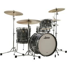 Ludwig Classic Maple 3-Piece Jazzette Shell Pack with 18 in. Bass Drum Vintage Black Oyster Pearl