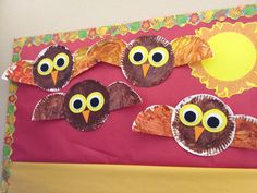 Owl projects I did with my toddler class today  bringing in the Fall