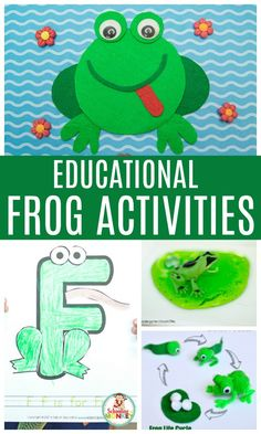 Planning a frog theme? These frog theme activities will give preschoolers and kindergarten kids everything they need to learn with a frog thematic unit! These frog activity ideas will make lesson planning a breeze. The perfect spring activities for the preschool classroom! #thematicunit #preschool #handsonlearning #springactivities