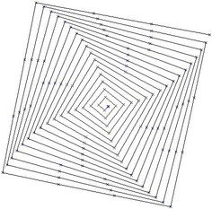 Pythagorean Square spiral Start with a square cut out of