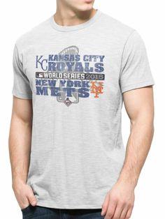 New York Mets Kansas City Royals 47 Brand 2015 World Series Scrum T-Shirt