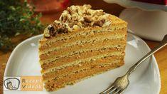 Medovik torta recept elkészítése videóval. A Medovik torta elkészítését, részletes menetét leírás is segíti. Elkészítési ideje: 3 óra Macarons, Vanilla Cake, Banana Bread, Pie, Baking, Recipes, Food, Torte, Cake