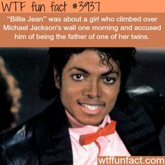 Billie Jean - Michael Jackson - WTF fun facts Only Wow Facts, Wtf Fun Facts, True Facts, Funny Facts, Funny Memes, Hilarious, Random Facts, Crazy Facts, Epic Facts