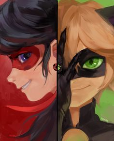 Ladybug and cat (Chat) Noir