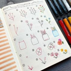 Doodles 25 Easy Doodle Art Drawing Ideas For Your Bullet Journal - Brighter Craft Bullet Journal Doodles, Bullet Journal 2019, Bullet Journal Notes, Doodle Art Journals, Bullet Journal Ideas Pages, Bullet Journal Inspiration, Doodle Art Simple, Easy Doodle Art, Doodle Art Drawing