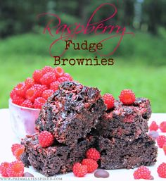 Raspberry Fudge Brownies (Grain, Dairy, Nut Free)  #PrimallyInspired