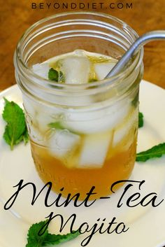 A delicious, non-alcoholic, and refreshing beverage made with fresh mint! Refreshing Drinks, Yummy Drinks, Beyond Diet Recipes, Happy Drink, Healthy Summer Recipes, Fresh Mint, Non Alcoholic, Mojito, Diet Tips