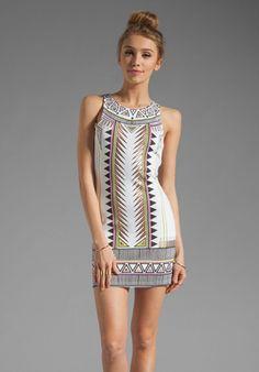 MINKPINK Techno Tribe Mini Dress in Multi