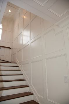 8 Jaw-Dropping Useful Tips: Simple Wainscoting Stairs wainscoting panels diy wall.Wood Wainscoting Entry Ways. Stairway Wainscoting, Dining Room Wainscoting, Wainscoting Height, Wainscoting Panels, Black Wainscoting, Stair Paneling, Wainscoting Nursery, Painted Wainscoting, Wainscoting Ideas