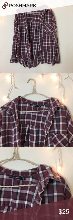 Brandy Melville Flannel Perfect condition multi color Flannel. Long oversized fit and ultra comfy. Bought from Brandy Melville,. Best for women's small or medium for an oversized fit. Brandy Melville Tops Tees - Long Sleeve