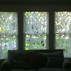 Handmade curtains my mom did! Felt Wall Hanging, Felt Pillow, Felt Decorations, Funky Furniture, Nuno Felting, Nightstands, Felt Art, Wool Felt, Fiber Art
