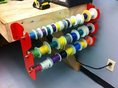 How to make a wire rack - could be used for ribbons as well