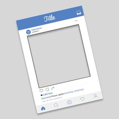 Free Instagram Frame Party Template In Photoshop And PowerPoint - Instagram frame template