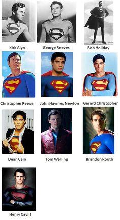 Los Clark Kent en los 75 años de #Superman #KalEl
