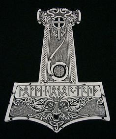 """In Norse mythology, Mjölnir is the hammer of Thor, the Norse god of thunder. Distinctively shaped, Mjölnir is depicted in Norse mythology as one of the most fearsome weapons, capable of leveling mountains."""