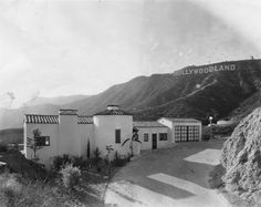 Old Hollywoodland picture. The house looks almost exactly the same today. Taken in 1932.