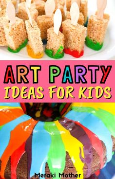 Throwing a kids birthday party? Try out this super fun and easy art party theme! Read here for art-themed party favours, party games, cakes, snacks and more! #kidsparty #partytheme #artparty Diy Birthday, Birthday Ideas, Birthday Parties, Easy Art, Simple Art, Fun Arts And Crafts, Crafts For Kids, Painting For Kids, Art For Kids
