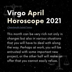 Astrologers first of all recommend to the representatives of the sign Virgo in April to learn how to adapt to the situation, to what will happen around. Big changes are coming, your life can be completely and completely changed, and you must be ready for these changes. 〰️ Check @bjtofficial for more! 〰️ #virgo2021 #virgozodiac #virgozodiacsign #virgohoroscopes #virgoseason #virgofacts #virgohoroscope #virgozodiac #horoscope2021 #zodiac2021 #astrology2021 #horoscopesigns April Horoscope, Virgo Horoscope, Virgo Zodiac, Astrology, Crazy Life Quotes, Virgo Season, Change Is Coming, Virgo Facts, Tantra
