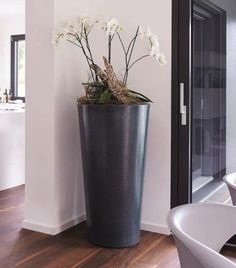 Für den Innen- und Außenbereich - Garantia STONE Pflanzbehälter, Lava, 110 cm