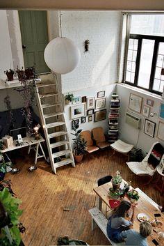 Jessica Barensfeld & Simon Howell's Brooklyn loft