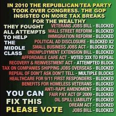 Republican voting record ...We need to get rid of REPUBLICAN control in both…
