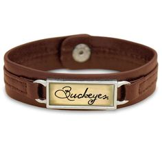#xmas #Christmas #Fanatics.com - #From the Heart Ohio State Buckeyes Women's Sepia Leather Bracelet - Brown - AdoreWe.com