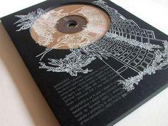 Back – Unavoidable Casualty CD Sleeve // 16 Simply Stunning All-Black Packaging Designs Black Packaging, Bottle Packaging, Packaging Design, Cd Design, Album Cover Design, Graphic Design, Album Design, Cd Artwork, Screen Printing