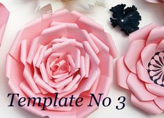 Paper Flower Template – Instant Download PDF – Paper Flower PDF – DIY Floral…