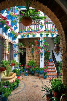 Patio cordobés, Andalucía, España