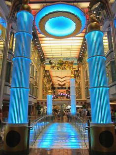 Beautiful blues on Freedom of the Seas' Royal Promenade.