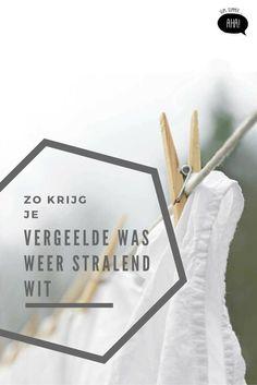 Wil je je witte was weer witter dan wit? Met deze tips zijn vergeelde kleren verleden tijd!