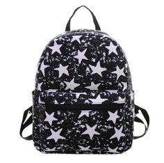 Cheap mochila escolar, Buy Quality small backpack directly from China backpack casual Suppliers: Small Backpack Casual Summer Beach Star PrintingWomen Canvas Shoulder Bag Printing School Bag Rucksack Mochilas Escolares Floral Backpack, Satchel Backpack, Small Backpack, Travel Backpack, Travel Bags, Laptop Backpack, Mini Backpack, White Backpack, Shoulder Bags For School