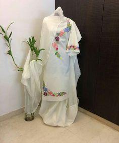 """Pink Petals on Instagram: """". #Pink_Petals 🌸 WhatsApp: +91 99154 22227 @pink_petals_punjabi_boutique . . . . . . . . . . . . . . #punjabisuit #punjabisuits…"""" Embroidery Suits Punjabi, Embroidery Suits Design, Embroidery Fashion, Embroidery Designs, Punjabi Suit Boutique, Punjabi Suits Designer Boutique, Punjabi Suit Neck Designs, Neck Designs For Suits, Designer Punjabi Suits Patiala"""