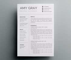 Resume Template / CV Template - The Sara Reynolds Resume Design ...