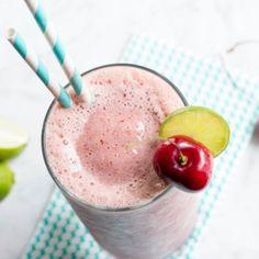 Recipe: Cherry Limeade Cream Slush