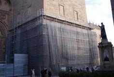 #andamios para la Torre de la Catedral de Salamanca