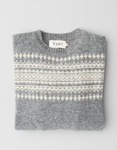 I like the subtleness of this Fair Isle type sweater.