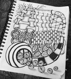 zen doodles and tangles by Juliette Zen Doodle, Doodle Art, Cute Baking, Zen Art, Tangled, Easy Crafts, Doodles, Zentangles, Drawings