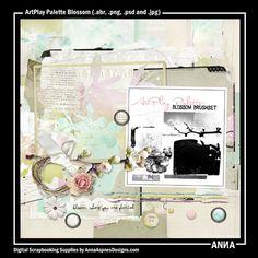 Oscraps :: Shop by Designer :: Anna Aspnes Designs :: ArtPlay Palette Blossom