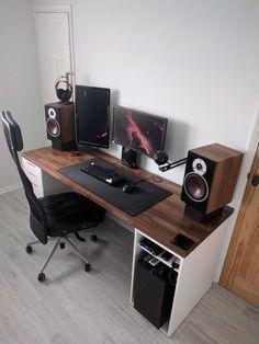 26 diy computer desk ideas to build for your office desk setups rh pinterest co kr