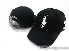 Polo Baseball Caps Peaked Hats Curve Bill Strapback Cpas Black 3