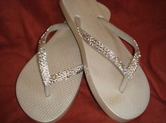 5dcd00aeac16 Swarovski Crystal Rhinestone Flip Flops by GemmaStoneJewelry Wedding Ideas  Royal Blue And Silver